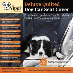 Yippr Dog Car Seat Cover Protector