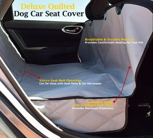 Dog Car Seat Cover Features Grey