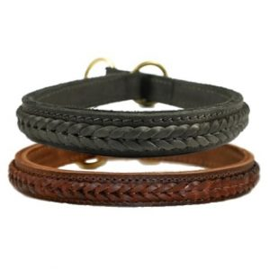 Leather Braided Collar