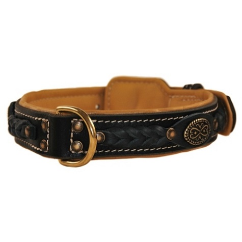 Western Padded Leather Collar