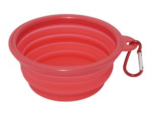 Red Travel Dog Bowl