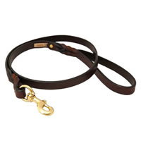 Braided Leather Dog Leash