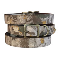 Leather Camouflage Dog Collar