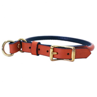 Tan Rolled Leather Collar